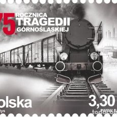 Sellos: ⚡ DISCOUNT POLAND 2020 THE 75TH ANNIVERSARY OF THE UPPER SILESIAN TRAGEDY MNH - THE TRAINS. Lote 257574105