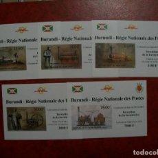 Sellos: /22.04/-LIQUIDACION-BURUNDI-2012-SERIE COMPLETA DE 5 BLOQUES EN NUEVO(**MNH)-SIN DENTAR. Lote 257698150