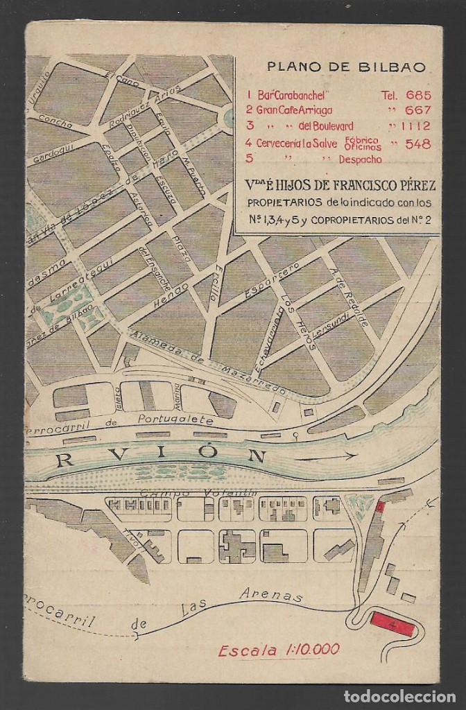 Sellos: BILBAO,PLANO E INTINERARIO DE LOS FERROCARRILES Y TANVIAS DE VIZCAYA, VER FOTOS - Foto 2 - 257730680