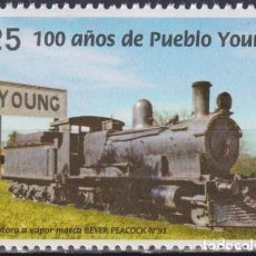 Sellos: ⚡ DISCOUNT URUGUAY 2020 THE 100TH ANNIVERSARY OF THE CITY OF PUEBLO YOUNG MNH - THE TRAINS. Lote 260532695