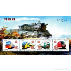 Sellos: ⚡ DISCOUNT KOREA 2004 LOCOMOTIVES MNH - THE TRAINS. Lote 260541065