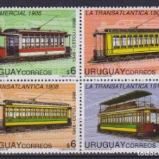 Sellos: ⚡ DISCOUNT URUGUAY 1998 50TH ANNIVERSARY OF THE CIRCLE FOR STUDIES ON PUBLIC TRANSPORT MNH -. Lote 260541800