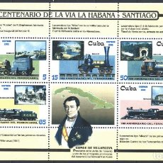 Sellos: ⚡ DISCOUNT CUBA 2002 STEAM LOCOMOTIVES MNH - THE TRAINS. Lote 260548975