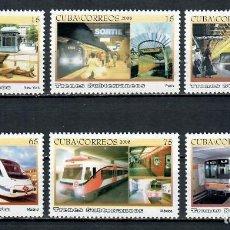 Sellos: ⚡ DISCOUNT CUBA 2008 SUBWAYS MNH - METRO, WAGONS. Lote 260549235