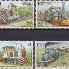 Sellos: ⚡ DISCOUNT FIJI 1999 THE 125TH ANNIVERSARY OF THE U.P.U. SUGAR MILL LOCOMOTIVES MNH - RAILWA. Lote 261240660