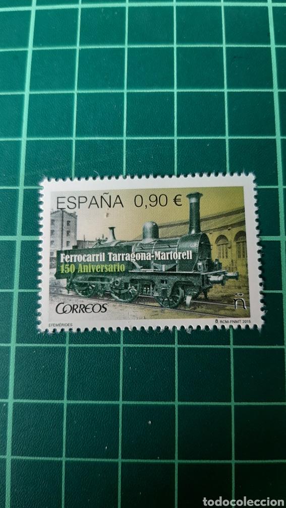 2015 ESPAÑA TRENES FERROCARRILES TARRAGONA/ MARTORELL LOCOMOTORA EDIFIL 4999 NUEVA O USADA SOLICITA (Sellos - Temáticas - Trenes y Tranvias)