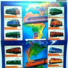 Sellos: TRENES ANTIGUOS 2 HOJAS BLOQUE DE SELLOS NUEVOS DE GUINEA. Lote 265125999