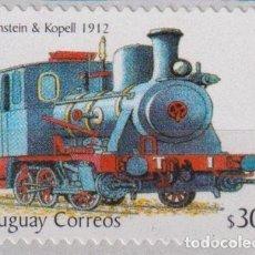 Sellos: ⚡ DISCOUNT URUGUAY 2004 STEAM LOCOMOTIVE MNH - THE TRAINS. Lote 266262873
