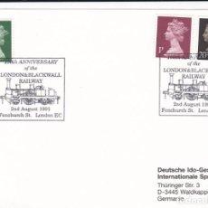 Sellos: GRAN BRETAÑA 1991 TARJETA MATASELLOS. Lote 266504928