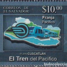 Sellos: ⚡ DISCOUNT SALVADOR 2019 PLAN CUSCATLAN THE PACIFIC TRAIN MNH - THE TRAINS. Lote 267407744
