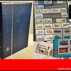 Timbres: PRECIOSO ÁLBUM DE SELLOS ANTIGUO: TRENES, FERROCARRILES,.... Lote 275185243