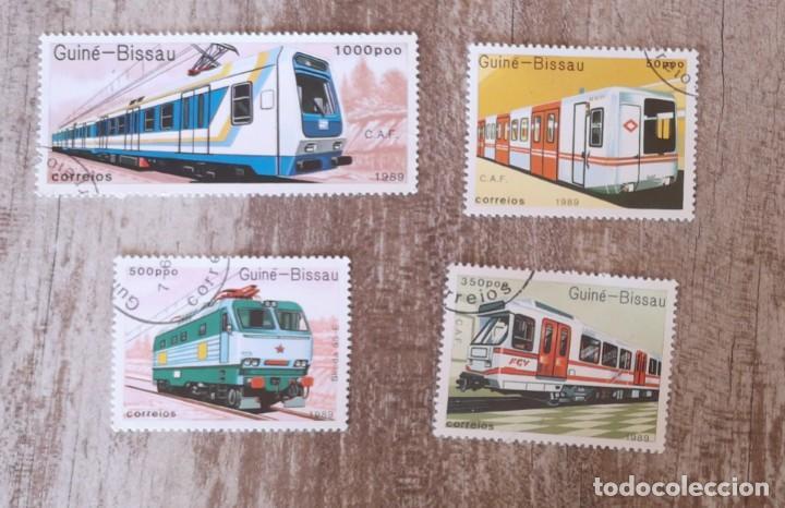 GUINEA BISSAU 1989 LOTE DE SELLOS FERROCARRIL- TRENES- LOCOMOTORAS- TREN (Sellos - Temáticas - Trenes y Tranvias)