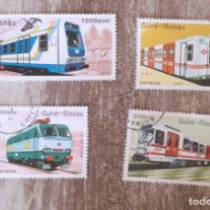 Sellos: GUINEA BISSAU 1989 LOTE DE SELLOS FERROCARRIL- TRENES- LOCOMOTORAS- TREN. Lote 276388073