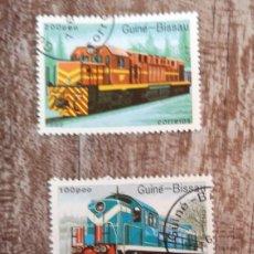 Timbres: GUINEA BISSAU 1989 LOTE DE SELLOS FERROCARRIL- TRENES- LOCOMOTORAS- TREN. Lote 276388843
