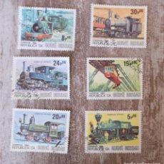 Timbres: GUINEA BISSAU 1984 LOTE DE SELLOS FERROCARRIL- TRENES- LOCOMOTORAS- TREN. Lote 276389823