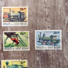 Timbres: GUINEA BISSAU 1984 LOTE DE SELLOS FERROCARRIL- TRENES- LOCOMOTORAS- TREN. Lote 276398933