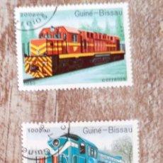 Timbres: GUINEA BISSAU 1989 LOTE DE SELLOS FERROCARRIL- TRENES- LOCOMOTORAS- TREN. Lote 276399338