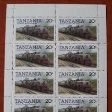 Sellos: DOS HOJAS BLOQUE TANZANIA. LOCOMOTORA 6004 4.8.2 + 2.8.4. Lote 276451493