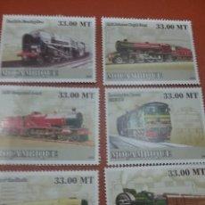 Sellos: SELLO R. MOZAMBIQUE NUEVOS/2009/TRANSPORTE/DIESEL/MAQUINA/VAPOR/TRENES/LOCOMOTORA/FERROCARRIL/. Lote 276742408