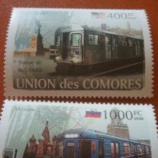Sellos: SELLO COMORAS (I. COMORES) NUEVO/2008/TRENES/TRANVIA/METRO/BANDERA/ARTE/TRENE/LEER REGALO DESCRIPCI. Lote 276909978