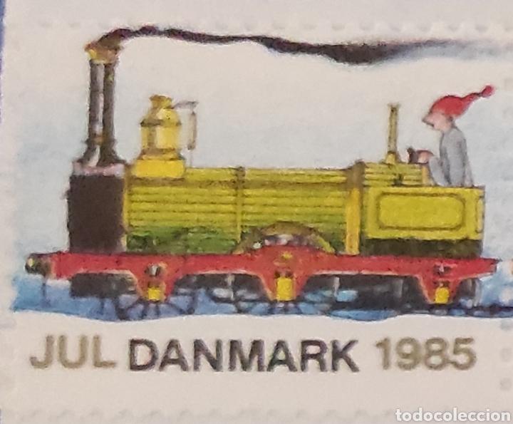 Sellos: Sellos daneses nuevos. Serie especial de Navidad. Tren navideño. Jul Danmark 1985. Dinamarca. Raros - Foto 2 - 277221328