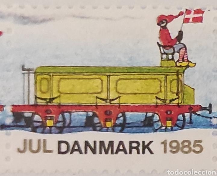 Sellos: Sellos daneses nuevos. Serie especial de Navidad. Tren navideño. Jul Danmark 1985. Dinamarca. Raros - Foto 3 - 277221328