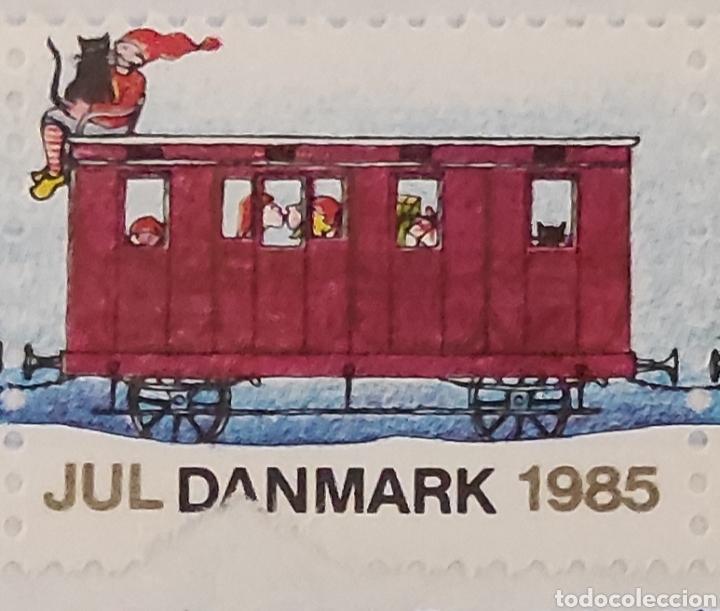 Sellos: Sellos daneses nuevos. Serie especial de Navidad. Tren navideño. Jul Danmark 1985. Dinamarca. Raros - Foto 4 - 277221328