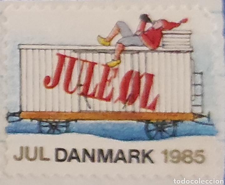 Sellos: Sellos daneses nuevos. Serie especial de Navidad. Tren navideño. Jul Danmark 1985. Dinamarca. Raros - Foto 6 - 277221328