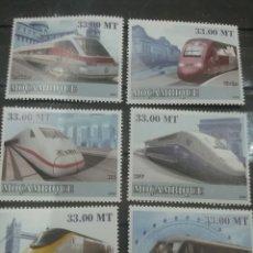 Sellos: SELLO R. MOZAMBIQUE NUEVOS/2009/TRANSPORTE/DIESEL/MONUMENTOS/ARTE/TRENES/LOCOMOTORA/FERROCARRIL/. Lote 277264918