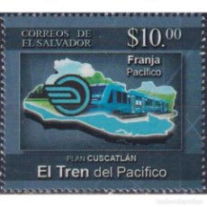 Sellos: SV2019-16 SALVADOR 2019 MNH PLAN CUSCATLAN THE PACIFIC TRAIN. Lote 287536083