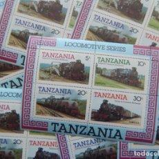 Sellos: 8 HB DE TANZANIA 1985 LOCOMOTORAS TRENES / LOCOMOTIVE SERIES. Lote 287266873