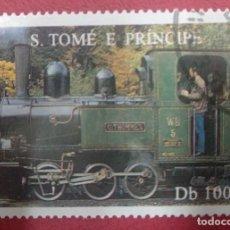 Sellos: S. TOMÉ E PRINCIPE AÑO 1995. TEMATICA TRENES.. Lote 287952378
