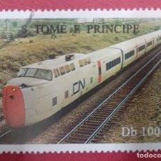 Sellos: S. TOMÉ E PRINCIPE . TEMATICA TRENES.. Lote 288045388