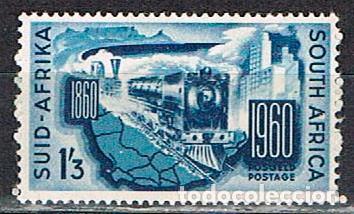 SUDAFRICA Nº 274, CENTENARIO DE LOS FERROCARRILES SUDAFRICANOS., NUEVO *** (Sellos - Temáticas - Trenes y Tranvias)