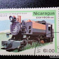 Sellos: *NICARAGUA, 1981, ANTIGUAS LOCOMOTORAS, YVERT 1170. Lote 288970083