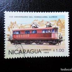 Sellos: *NICARAGUA, 1985, 150 ANIV. DEL FERROCARRIL ALEMAN, YVERT 1372. Lote 288974058
