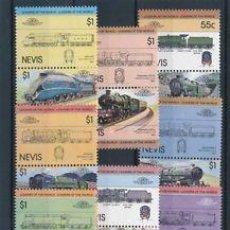 Sellos: NEVIS 1983 IVERT 131/46 *** LOCOMOTORAS (I) - TRENES. Lote 289880373
