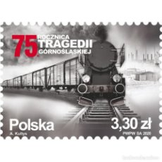 Sellos: ⚡ DISCOUNT POLAND 2020 THE 75TH ANNIVERSARY OF THE UPPER SILESIAN TRAGEDY MNH - THE TRAINS. Lote 289973268