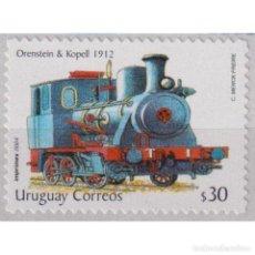 Sellos: ⚡ DISCOUNT URUGUAY 2004 STEAM LOCOMOTIVE MNH - THE TRAINS. Lote 289983723
