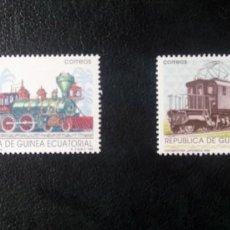 Sellos: GUINEA ECUATORIAL - AÑO 1991 - TRENES - FERROCARRILES DEL MUNDO - NUEVOS. Lote 291428708