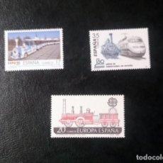 Sellos: LOTE 3 SELLOS TRENES ESPAÑA - NUEVOS. Lote 291433348