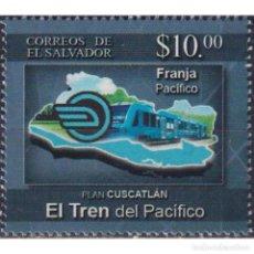 Sellos: SV2019-16 SALVADOR 2019 MNH PLAN CUSCATLAN THE PACIFIC TRAIN. Lote 293410298