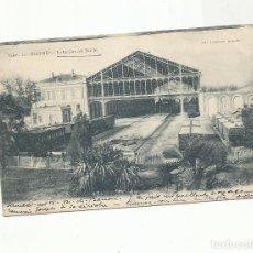 Sellos: POSTAL ESTACION NORTE MADRID CIRCULADA 1906 A HOYEL DES ANGLAIS NICE FRANCIA. Lote 295765403