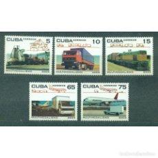 Sellos: ⚡ DISCOUNT CUBA 2003 TRANSPORT NG - AIRCRAFT, TRANSPORT, THE TRAINS. Lote 296045648