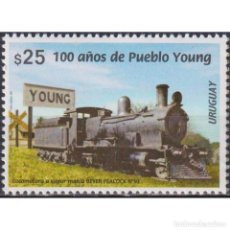 Sellos: ⚡ DISCOUNT URUGUAY 2020 THE 100TH ANNIVERSARY OF THE CITY OF PUEBLO YOUNG MNH - THE TRAINS. Lote 296062068