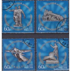 Sellos: ⚡ DISCOUNT RUSSIA 2021 CITIES OF LABOR VALOR U - MONUMENTS, AIRCRAFT, THE TRAINS. Lote 297139248