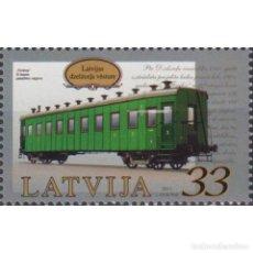 Sellos: ⚡ DISCOUNT LATVIA 2011 HISTORY OF LATVIA RAILWAY MNH - RAILWAYS, WAGONS. Lote 297145478