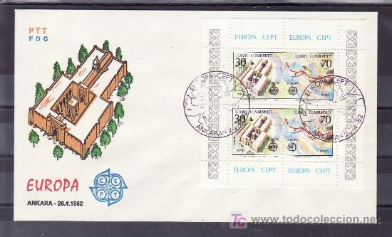 TURQUIA HB 23 PRIMER DIA, TEMA EUROPA 1982, HECHOS HISTORICOS, (Sellos - Extranjero - Europa - Turquía)