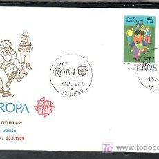 Sellos: TURQUIA 2602/3 PRIMER DIA, TEMA EUROPA 1989, JUEGOS INFANTILES, . Lote 10815667