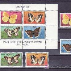 Sellos: TURQUIA 2582/5, HB 28 SIN CHARNELA, FAUNA, MARIPOSAS, . Lote 11678537